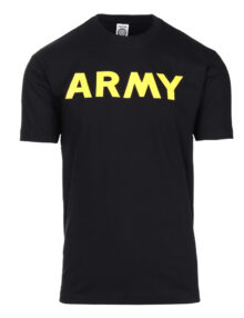 T-SHIRT BLACK WITH PRINT ARMY