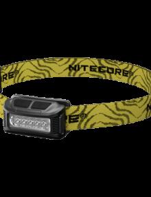 Nitecore NU10 sort med gul bånd