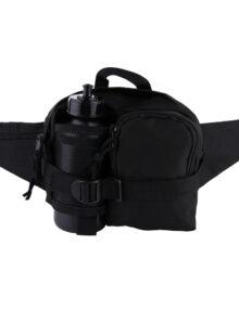Bæltetaske-flaske-sort